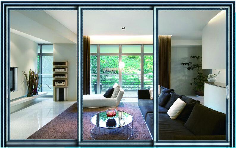 Moderne en aluminium porte coulissante en verre ext rieur for Porte interieure en verre prix