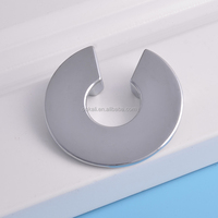 Modern Chrome Plated Furniture Cabinet Pulls Circle Shape Wardrobes Drawer Handles and knobs