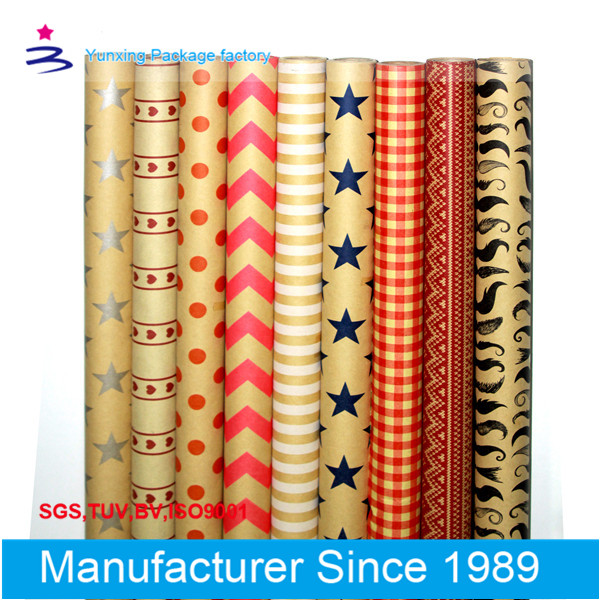 Factory sell good products of roll kraft gift wrapping paper