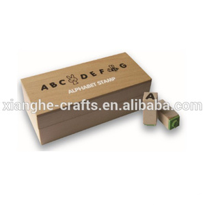 mini alphabet stamp rubber toy stamp wooden stamp