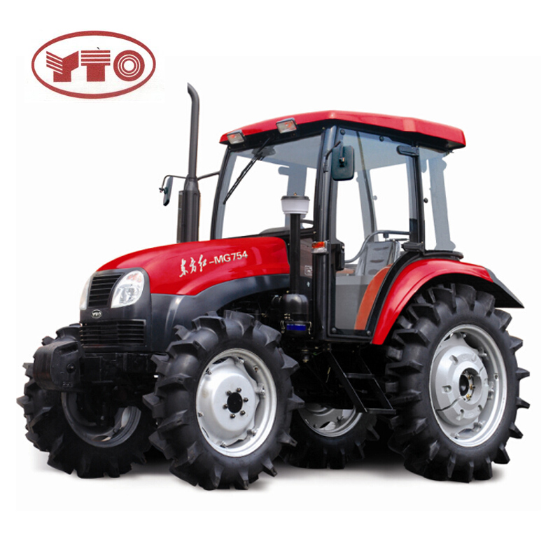 Brand New YTO 754 4WD Farm Tractor Price / 75HP 4x4 Cheap Tractor Agricultural Machinery For Sale