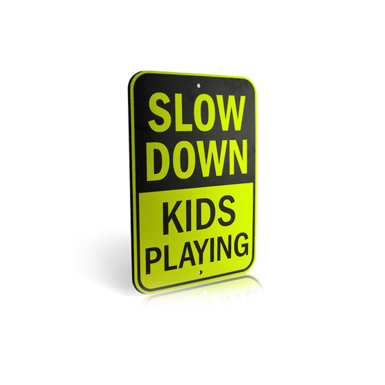 """Slow Down Kids Playing"" 반사 Sign 경고를 Vehicles Sign"