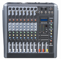 350W powered audio mixing amplifier mixer console with good price K608D
