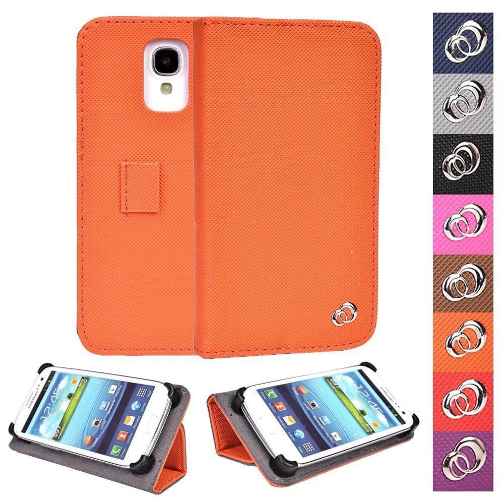 "KroO Acer Liquid Z330 Z320, M330 M320 4.5"" Universal Case | Tangerine Phone Holder Cover W/Foldable Stand"