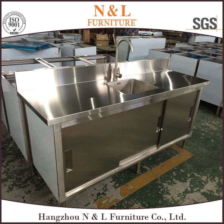 Stainless steel bar counter outdoor kitchen restaurant for Outdoor kitchen equipment