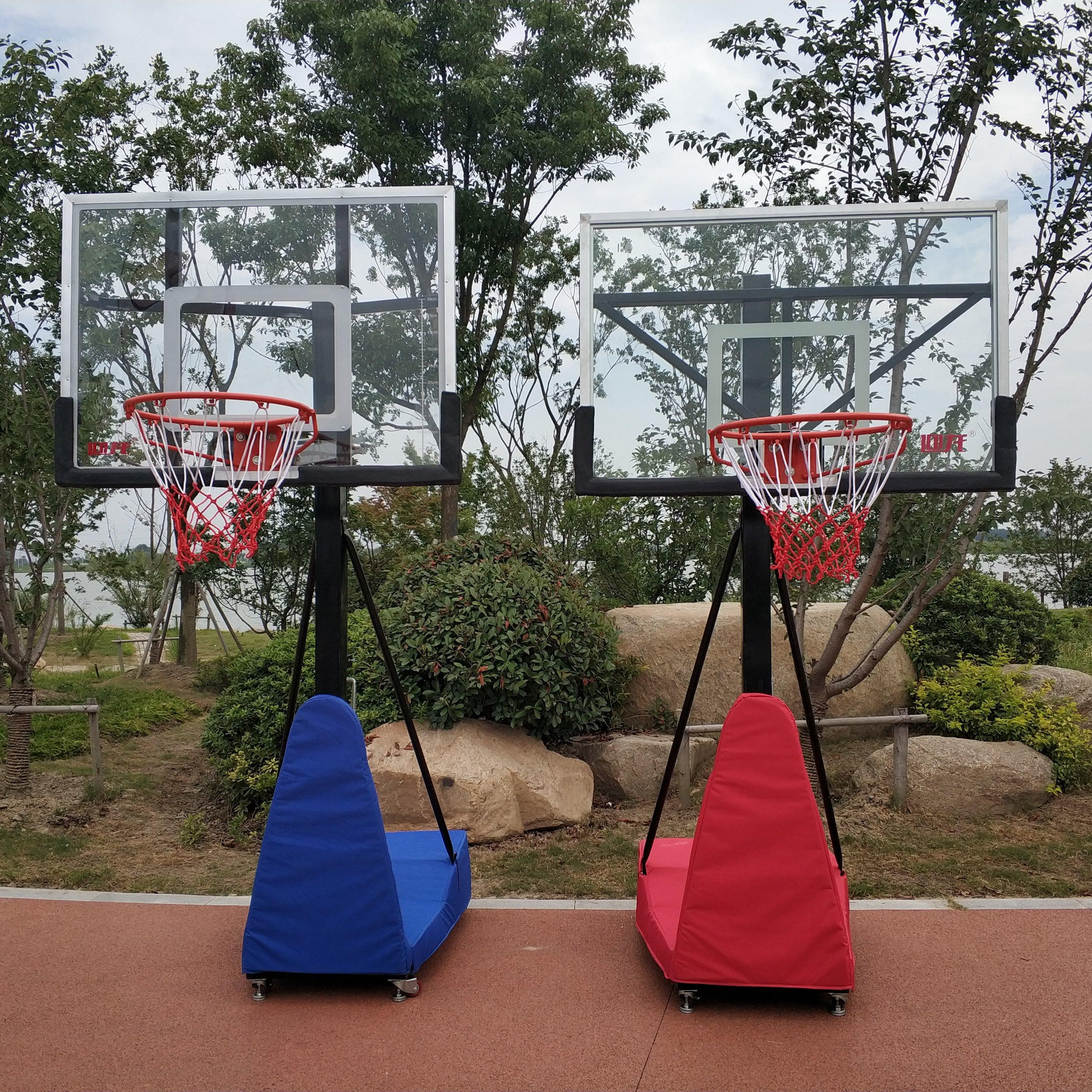การฝึกบาสเก็ตบอลสำหรับเด็กสามารถเคลื่อนย้ายและยกได้