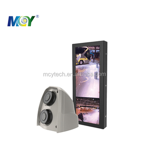12.3 inch electronic rear view mirror monitor backup view side view monitor with dual lens camera one is wide angle