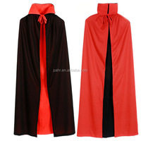 Black And Red Double Sided Halloween Christmas Cloak Masquerade Party Adult Cape Costume