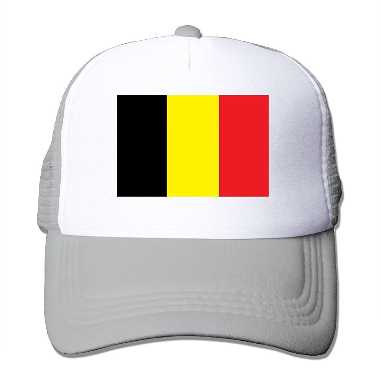 d06d5832 Get Quotations · Chion Unisex Mesh Hat Belgium Flag Baseball Caps Grid Hat  Adjustable Trucker Cap Headwear Bandanas