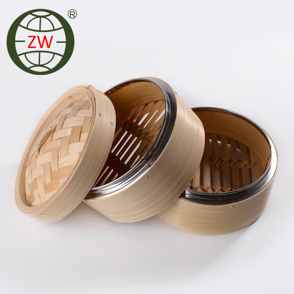 Familie Verwenden Mini Bambus Dampfer Korb Dim Sum Bambusdampfer