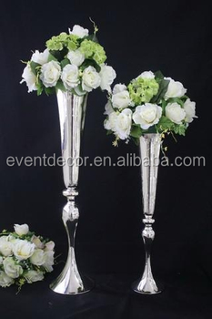 Alibaba & Slim Metal Flower VaseTrumpet Vases Centerpieces For Wedding \u0026 Home Decoration - Buy Silver VaseTrumpet Vase CenterpiecesVase For Home Decor ...