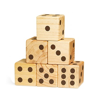 Large Wooden Yard 90mm Numeral Dice Outdoor Lawn Game Wooden Extra Large Numbered Big Dice Buy Wooden Diceyard Dicelarge Dice Product On
