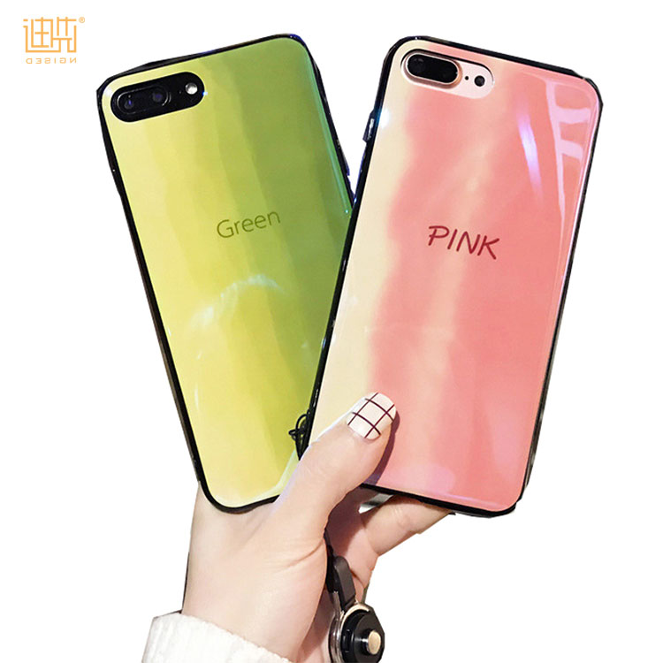 2018 alibaba hotsell custom colorful TPU+IMD+ unique blue light technology phone case mobile phone cover for iPhone X