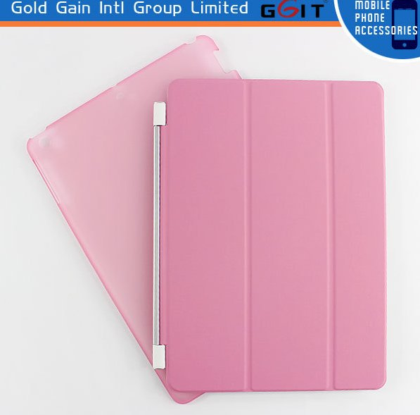 Slim PU Front PC Back Case Stand Cover For iPad 2 3 4