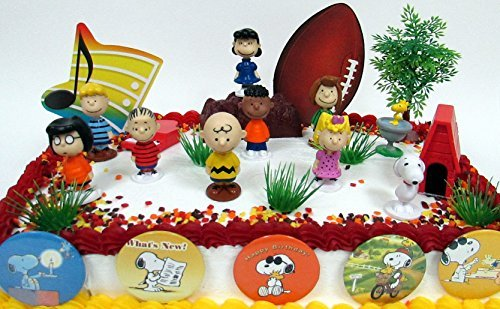 Stupendous Buy Charlie Brown Peanuts 18 Piece Birthday Cake Topper Set Personalised Birthday Cards Paralily Jamesorg