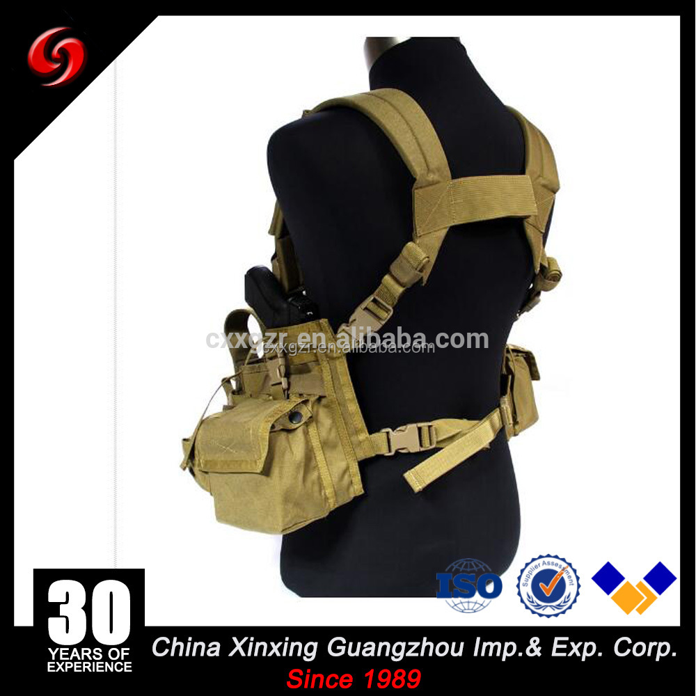 2017 new tactical combat web vest with magzine pouch outdoor fishing vest