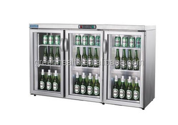 glass door mini beer fridge with three doors for sale - Glass Front Mini Fridge