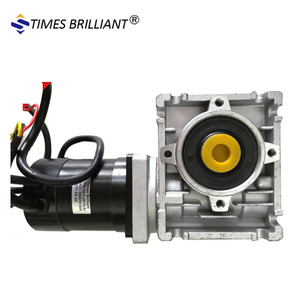 China supply motor 24v 100w brushless electric dc motor with worm gearbox wormgear motor