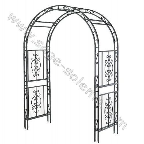 Ornamental Metal Round Top Garden Planter Arch: Buy Garden Arches,Garden Arbor