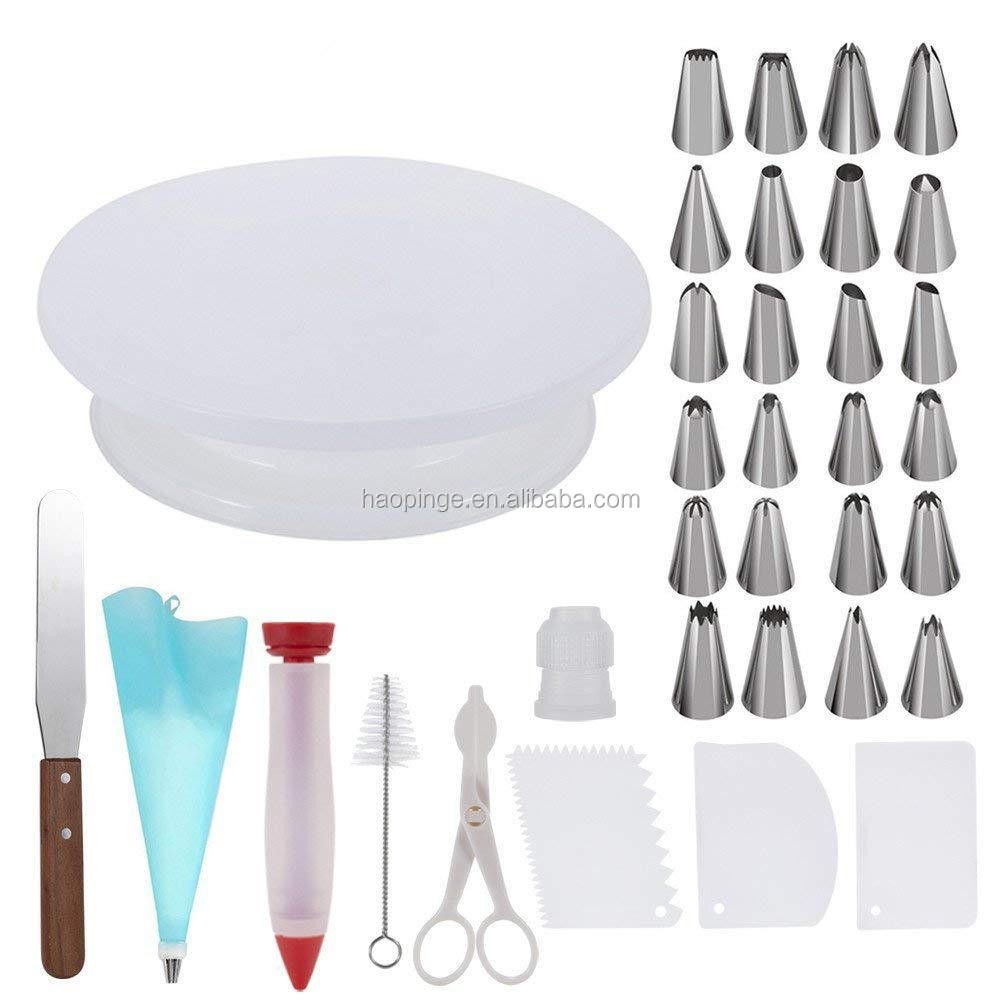 42-Piece Cake Decorating Supplies Sets with Icing Tips, Pastry Bags, Icing Smoother for Cake Decoration Baking Tools