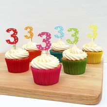 Cupcake Toppers Cake Picks Spotty Number Cupcake Toppers