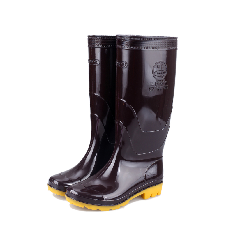 Rainboots PVC Men's Labor Rain Boots Protective shoes knee cheap factury galoshes good quality non-slip gumboot