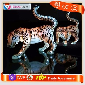 Outdoor Holiday Artificial Waterproof Tiger Model Decoration Lantern