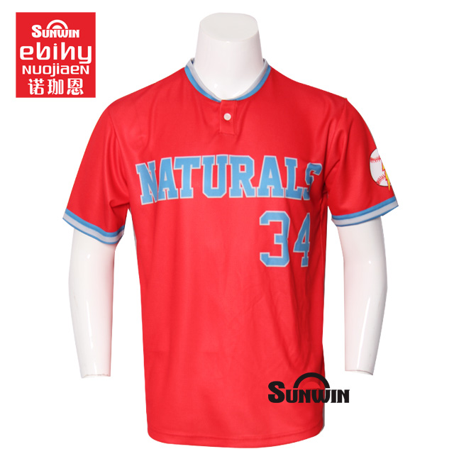 100% polyester Zwart Korte Mouw Volledige Button UP Mens Baseball Jersey/custom baseball jersey