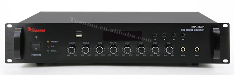 Mp260p Built-in Usb Port Mp3 Player Mixing Amplifier For Paging ...
