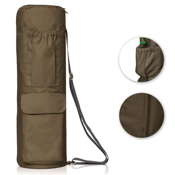 promotion Carrier With Pockets And Zipper Canvas Yoga Mat Bag