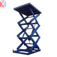 Air hydraulic motorcycle lift table