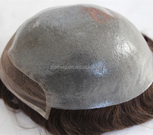Cheap BIO lace toupee skin base with swiss lace in front for men in stock.