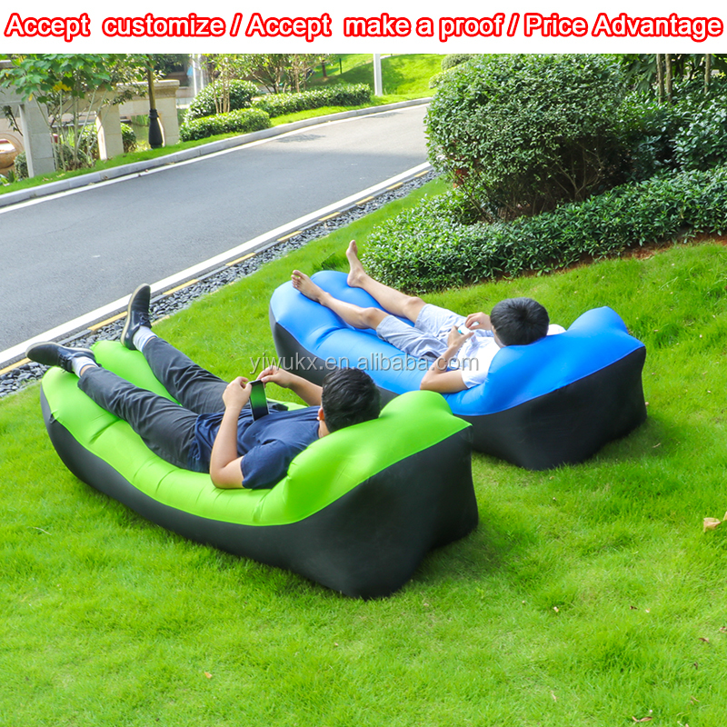 High quality air sofa inflatable sleeping bag summer airbed Air lounger Lazy bag