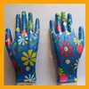 EN388 4121 Polyester and Spandex Coated Smooth Nitrile Gloves