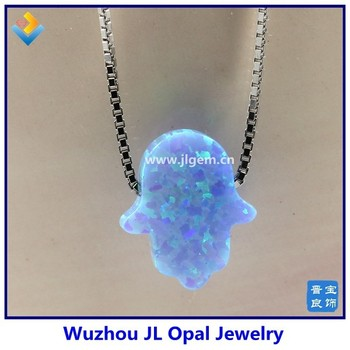 Blue opal hamsa necklace blue hand bead opal stone necklace charm blue opal hamsa necklace blue hand bead opal stone necklace charm mini hand stone necklace mozeypictures Gallery