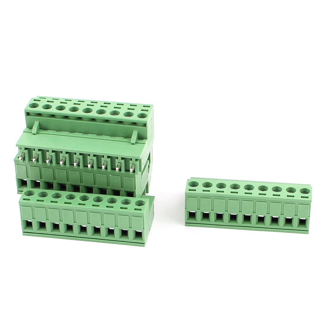 uxcell AC 300V 10A 9 Pins PCB Screw Terminal Block 5.08mm Pitch 6 Pcs Green
