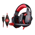 EACH G2200 Virtual 7 1 Surround Sound Gaming Headset Wired USB Headphone with Microphone for PC