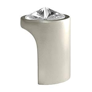 Swarovski Clear Crystal Pull Knob, 1.10 inch by 0.79 inch, Satin Nickel Finish, 722 SN