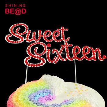 Sprinkles Sweet Sixteen Cake Topper Wedding Cake Decoration
