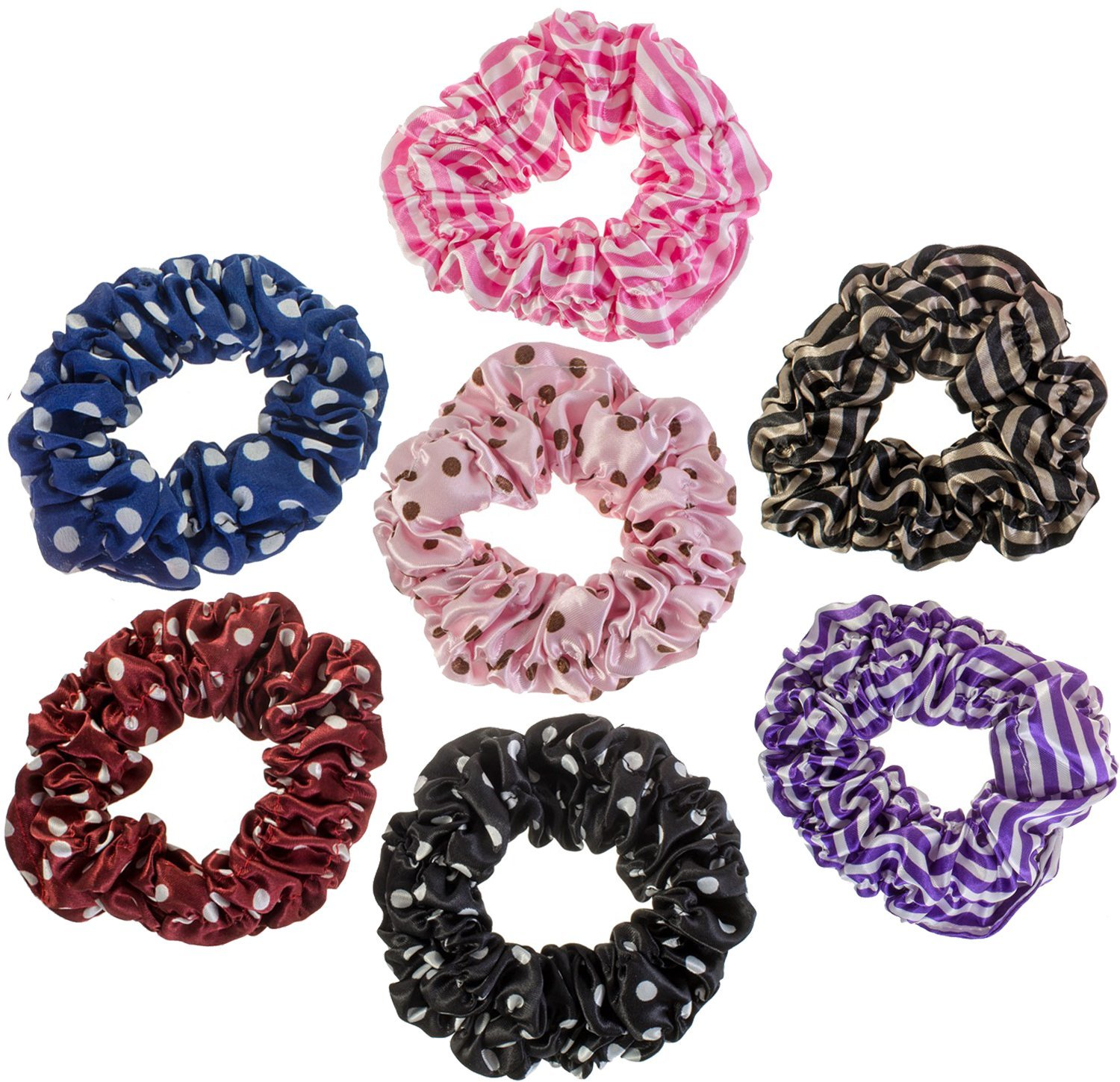 Hairstyling Accessories and Decorations Set   Kit   Lot of 7pcs Hair  Scrunchies   Rubber Bands 534e732f1ff