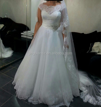 Real Sample Elegant Simple Design High Quality Custom Make Wedding Dress Ow594
