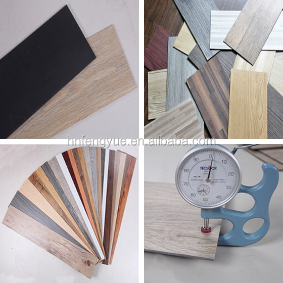 Fibre Glass Luxury commerial vinyl wood PVC flooring with thailand