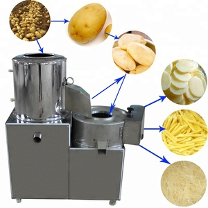 Industrial Automatic French Fries Sweet Potato Chips Peeler Slicer Washing Making Machine Price
