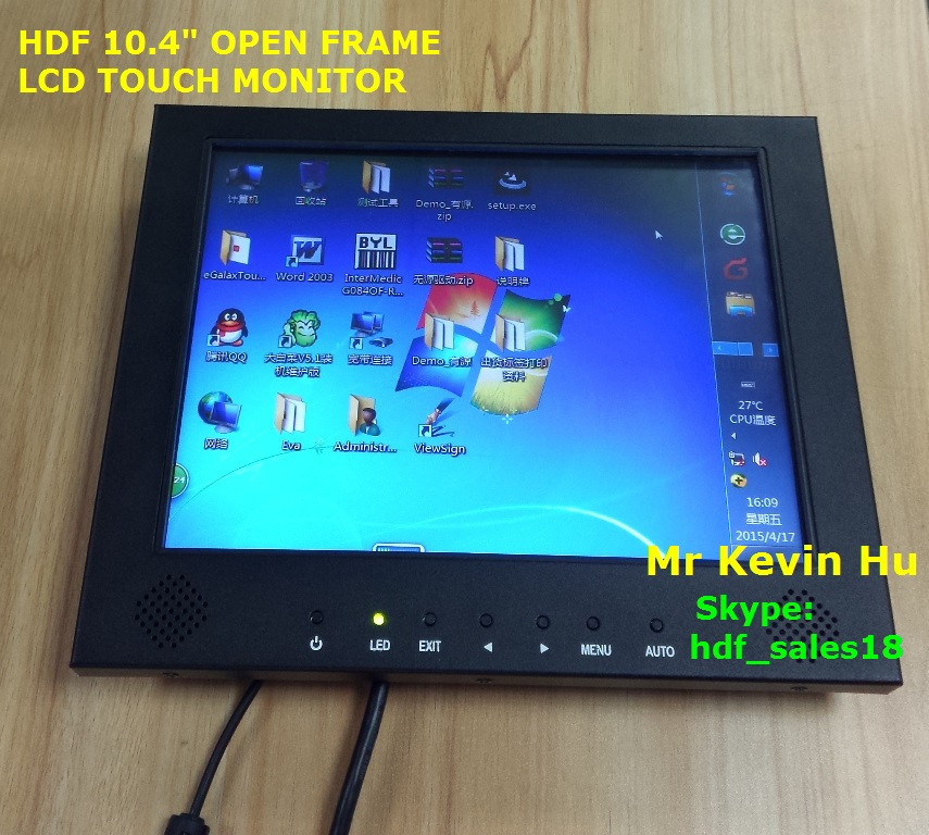 800*600 10.4 inch color tft lcd display touch monitor / lcd touchscreen raspberry pi