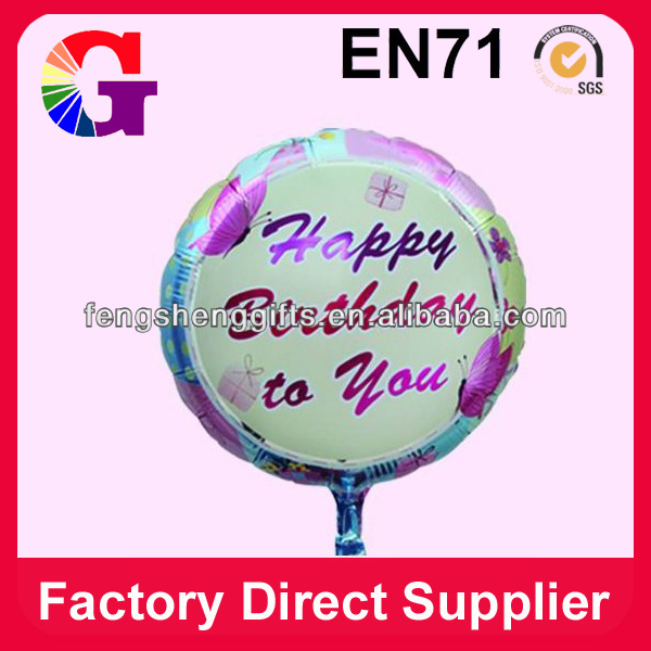 "Birthday round shape foil 18"" balloons"