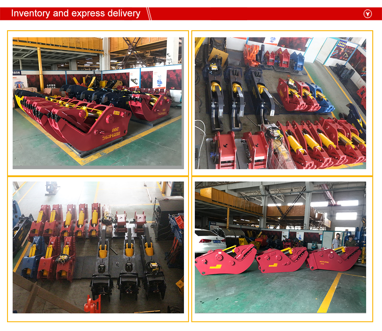 China Manufacturer High Efficiency concrete cutting demolition excavator crushing hammer  excavator pulverizer for construction