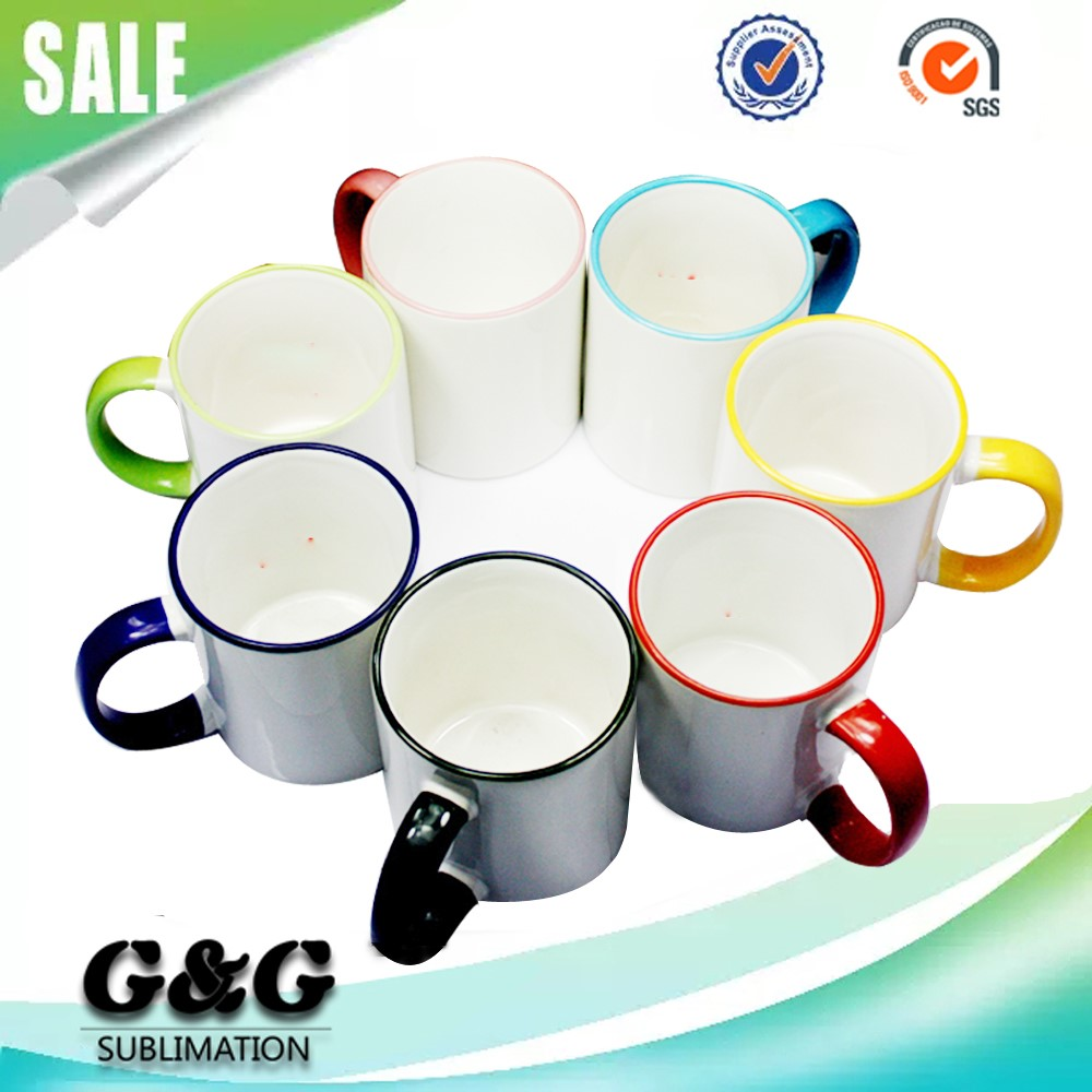 Cheap Sublimation Blanks Rim Color Ceramic Mugs, View cheap bulk ceramic  mugs, G&G Product Details from Yiwu Jijie Trading Co , Ltd  on Alibaba com