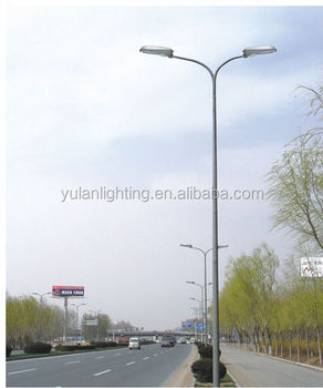Q235 Commercial Lamp Post Galvanized Street Lighting Pole 12m In Uae Electrical Poles Prices