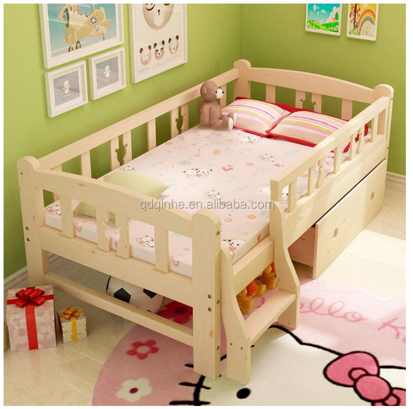 top sale solid wood import pine wood children's swing bed
