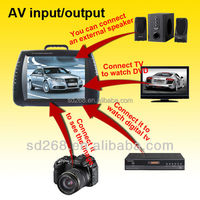 12 inch screen portable dvd with TV